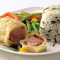 Recept - Varkenshaaspakketjes met wilde rijst - Allerhande