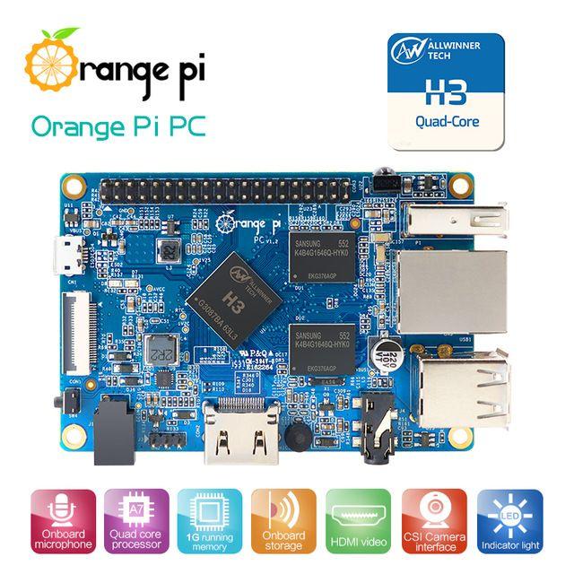Лучший Продавец Orange Pi PC H3 Поддержка Lubuntu linux и android мини ПК За Raspberry Pi 2 Оптовая Продажа доступны