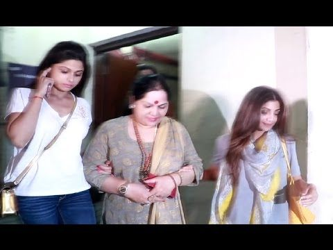 Shilpa Shetty with family on a movie date at PVR Juhu, Mumbai.