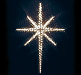 Holy Star Nite-Lite Wood Pattern Make this large Nativity star to shine brightly over your garage doors, on your house or in your yard this Christmas! #diy #woodcraftpatterns