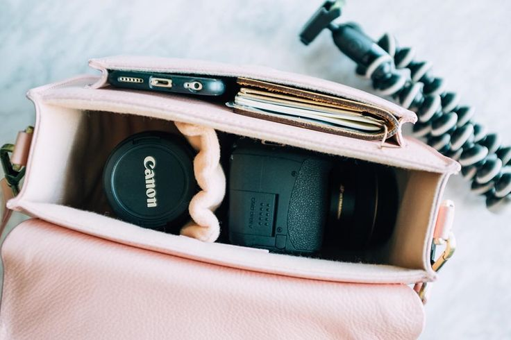 A few of the things we can fit in our Lola Camera Bag:  1. Canon T3i with a 28mm lens  2. Canon Lens 55-250 3. Midori Notebook  4. iPhone 6  #Camerabag  #Gattabag #travelessentials