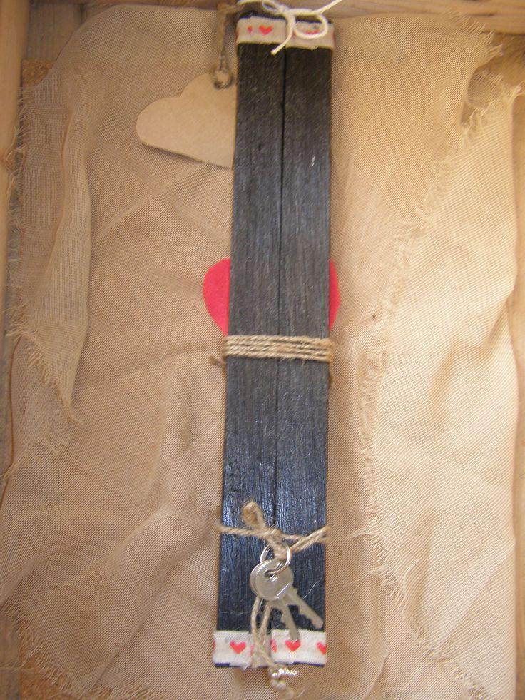 Η πίσω όψη του ζευγαριού με τα κλειδιά του λουκέτου !