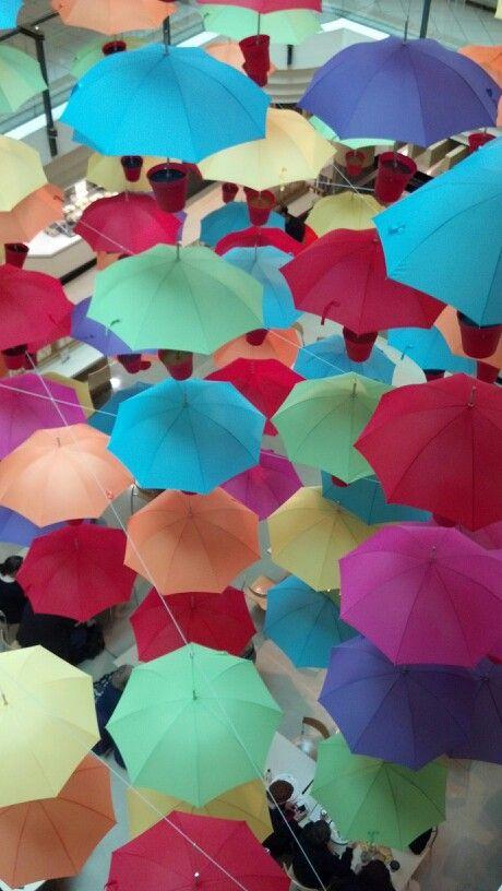 Pretty umbrellas.. Melbourne. Pic by Tracey