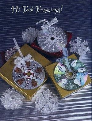 Reciclaje adornos de Navidad con cd