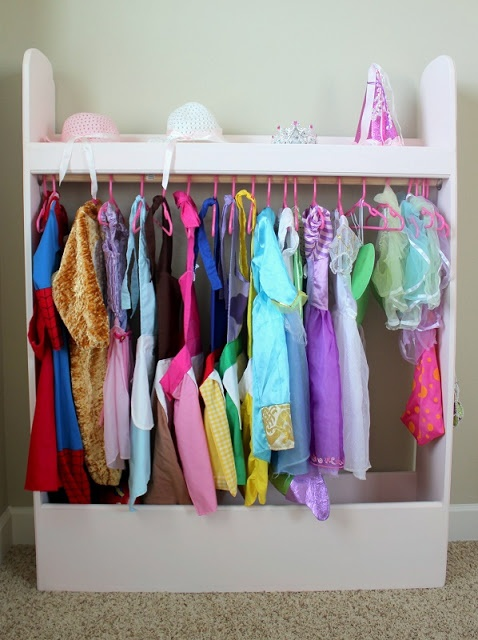A Place for Everything and Everything in it's Place! Dress Up Box {link with instructions to build your own!}