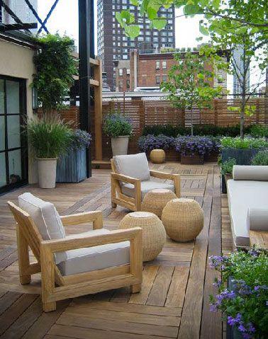 Du bois pour 6 terrasses au charme fou