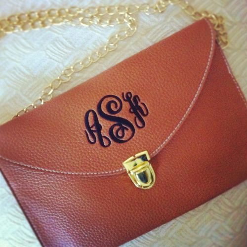 Marley Lily Monogrammed Cross body in Red with White monogram