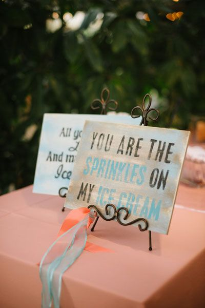 Wedding Ice Cream rather than cake! Such a great idea! sprinkles and ice cream