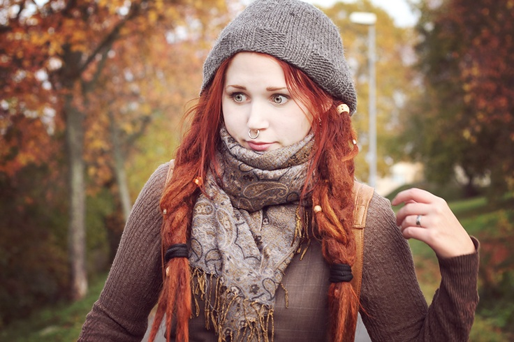 Okay she's not famous...but I came across her blog one day quite by accident and I think she has amazing style. Her name is Linn Mickelsson.  I love her wonderful red dreadlocks too.  I wish she lived in the states!
