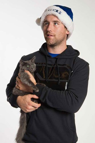 Vancouver Canucks: Ryan Stanton and a kitten from the BC SPCA   Hockey Players   Pinterest ...