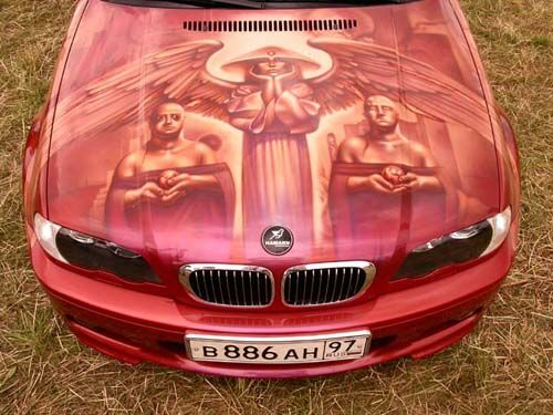 car airbrushing painting images design cars red hood pics. Black Bedroom Furniture Sets. Home Design Ideas