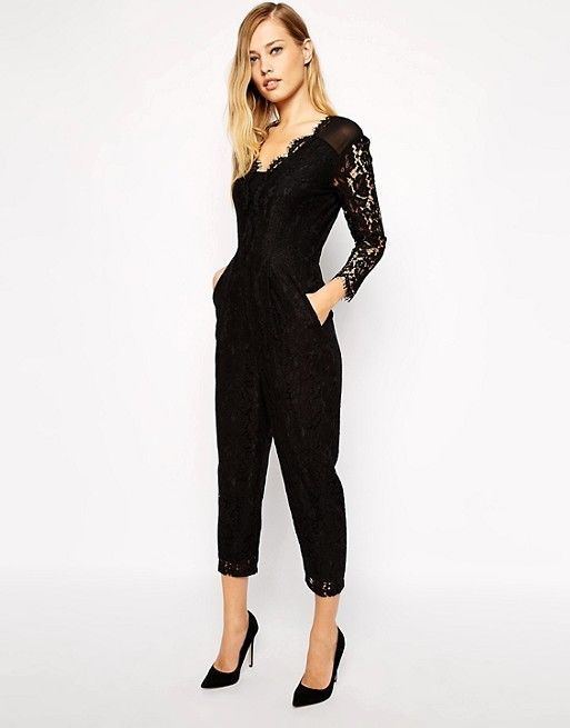 b27fbb043add WHISTLES 250 Black Lace Jumpsuit XS S 4 6 8 10  fashion  clothing  shoes   accessories  womensclothing  jumpsuitsrompers  ad (ebay link)