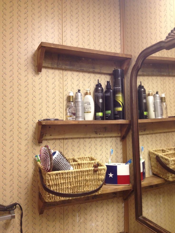 Popular DIY Pallet Bathroom Wall Hanging Shelf  101 Pallets