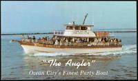 OCEAN CITY MD The Angler Restaurant Party Boat Vintage Postcard Old Maryland PC