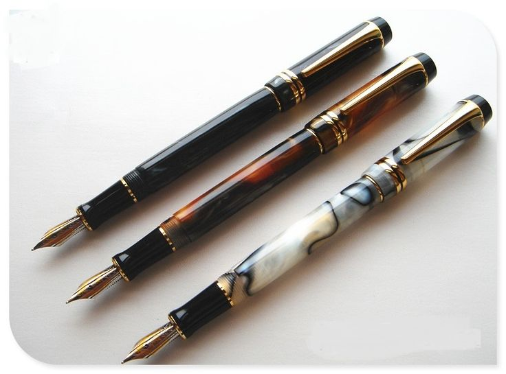 best price 3pcs kangaroo free shipping nib ping cursive italic style celluloid 0 7mm top duofold unique #unique #pens