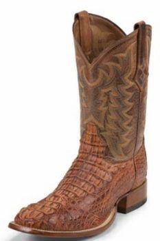 Tony Lama Boots Mens Exotic Western Cowboy Cognac Vintage Hornback Caiman Boots 1061