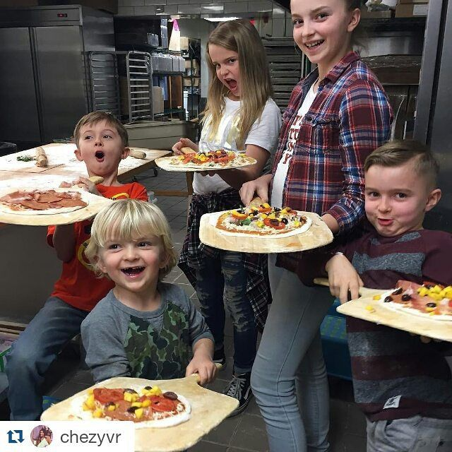 Love this! Thanks Andrea + kiddies for sharing your pizza making experience!  Kids pizza making every Sunday + Monday 5pm- 7pm. Adults can join in the fun Mondays!   #Repost @chezyvr ・・・ #awesomefilter #family @rockymountainflatbread @cassandramellalieu @nmellalieu