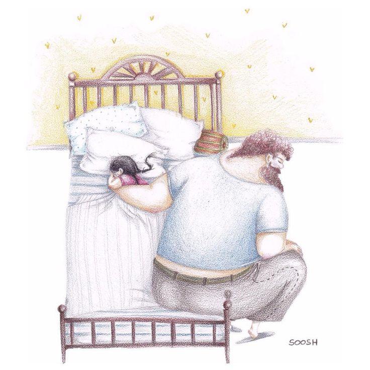 10 ilustraciones que tocan la fibra sensible con el amor entre un padre y su pequeña hija