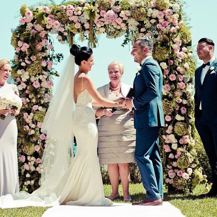 "Sydney Wedding Photography on Instagram: ""Yasmin and Daniels's pretty ceremony at Lavender Bay ❤️ #gmphotographics #gmphoto #weddingdress by @leahdagloria #brideandgroom #ceremony #flowers #wedding #photography #professionalphotographer #sydneyweddingphotographer #instabride #love #dianekhouryweddingsandevents @vesnagrassofloraldesigner@dianekhouryweddingsandevents"""