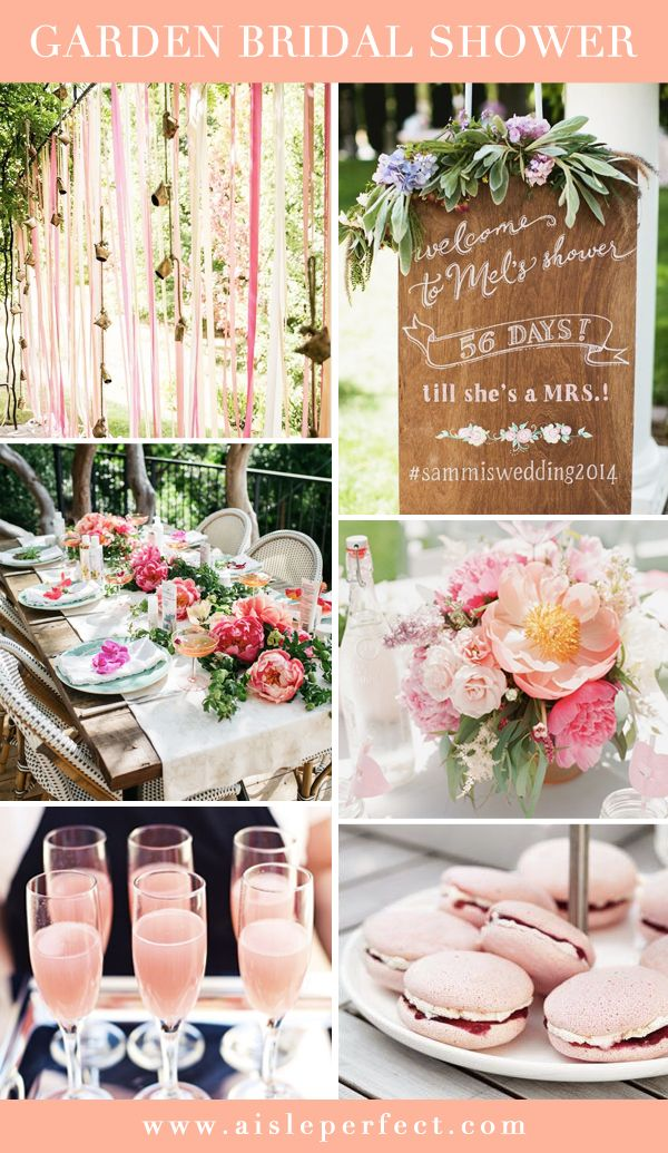 Summer is the perfect season to throw a chic garden bridal shower and as you know from our Wedding Trends post, garden weddings are all the rage for 2015. I love the soft romantic feel of this palette and think it would be perfect for a stylish bride to be. Check out our bridal shower page …