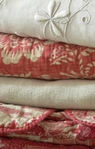antique french quilts and linens...