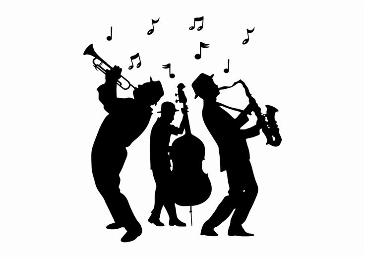 Jazz Musician Silhouettes | Jazz Band Silhouette Jazz muscicians