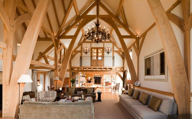 The green oak carpentry company chidmere house cruck for Cruck frame house plans