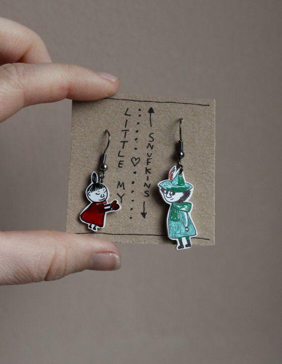 The Moomins 'Little My's in love' earrings