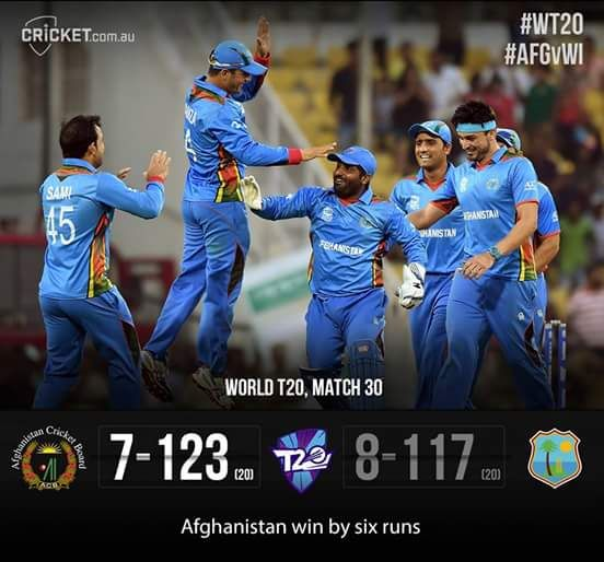 Afghanistan just beat the West Indies in the T20 Cricket World Cup!!! http://ift.tt/1q9gBTp Love #sport follow #sports on @cutephonecases