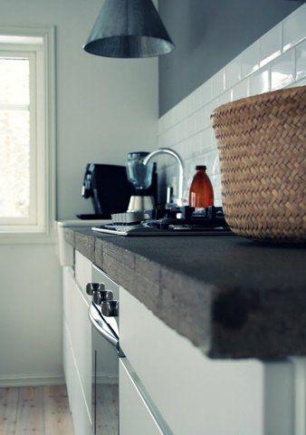 Kitchen  - grey, white and black