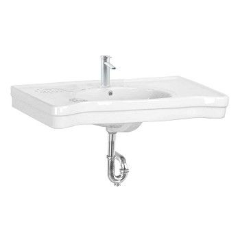 Item #20347 : Bathroom Large Wall Mount Console Sink China Belle Epoque
