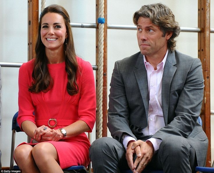 Celeb backing: John Bishop joined the Duchess of Cambridge on a visit to an M-PACT Plus Co...