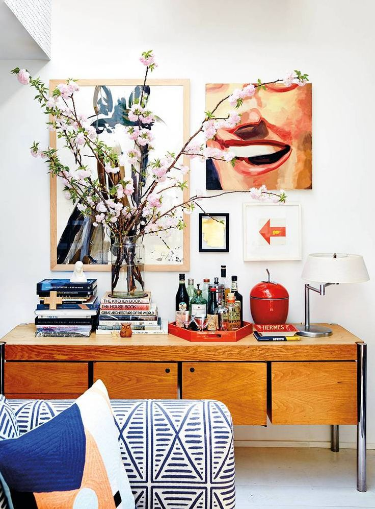 Refinery29 EIC Christene Barberich's home in domino's fall 2016 issue! Playing with height, texture, color.