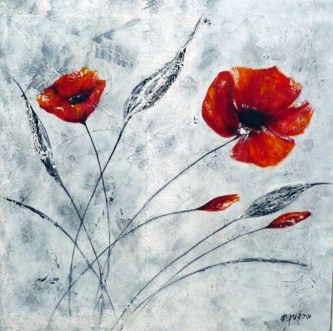 Martine gregoire coquelicots rouges posting sapotille for Tableau de coquelicot en peinture