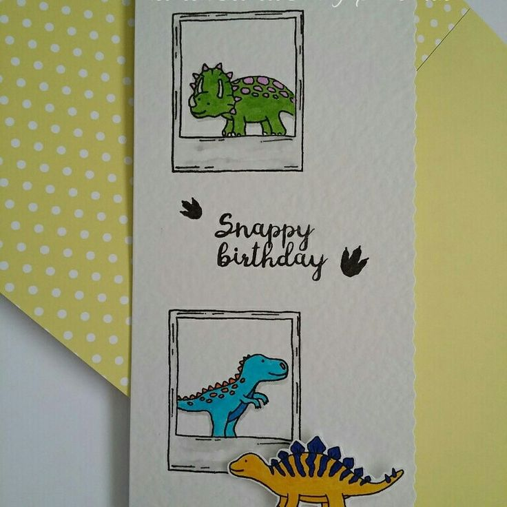 Dino Friends and Say Cheese stamp set.  #fortheloveofstamps #hunkydorycrafts #dinofriends #saycheese #stamping #stamps #kuretakezig #cards #cardmaking #handmade