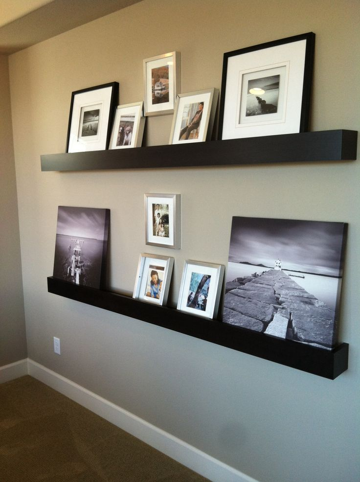 floating shelves living room pinterest. Black Bedroom Furniture Sets. Home Design Ideas