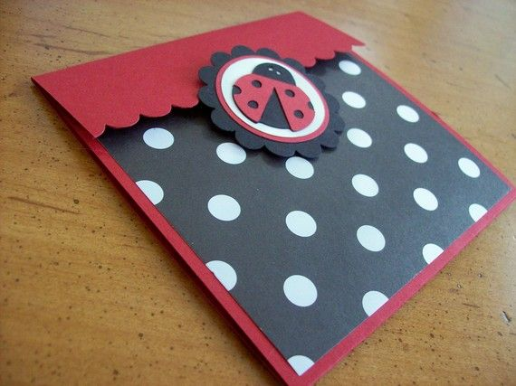 Ladybug Invitation  Perfect for birthdays baby by sillylittlegoose, $18.00