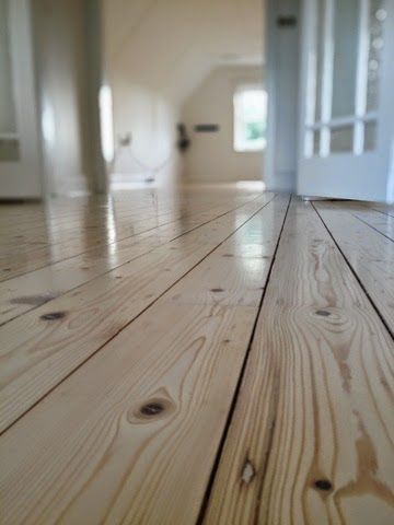 Bona Dri fast white direct stain and Bona Traffic HD satin finish applied to baltic pine, Bona Traffic Hd is one of the markets most durable and has the lowest VOC.