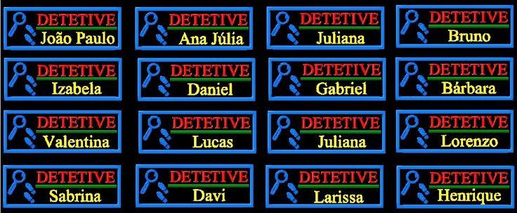 kit 18 etiquetas personalizada capa dpa detetive prédio azul