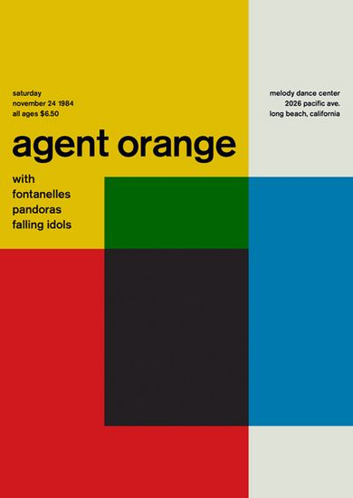 Agent Orange, Fontanellas, Pandoras, and Falling Idols, November 24, 1984, Long Beach, CA