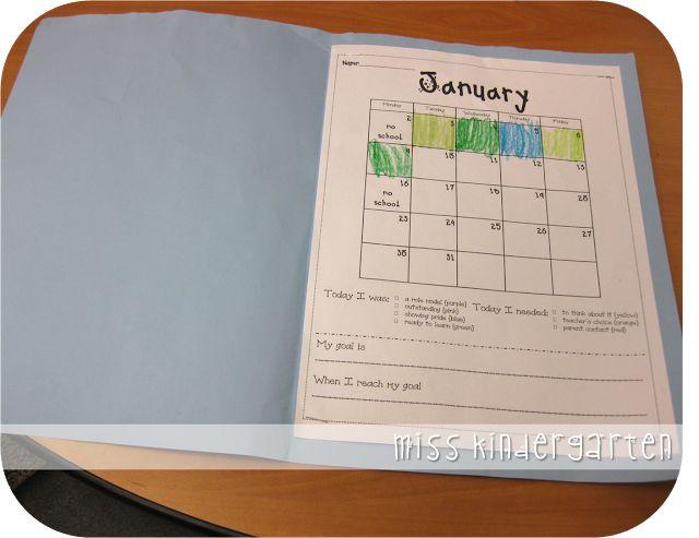 Kindergarten Calendar Flip Chart : Freebielicious clip chart behavior calendars