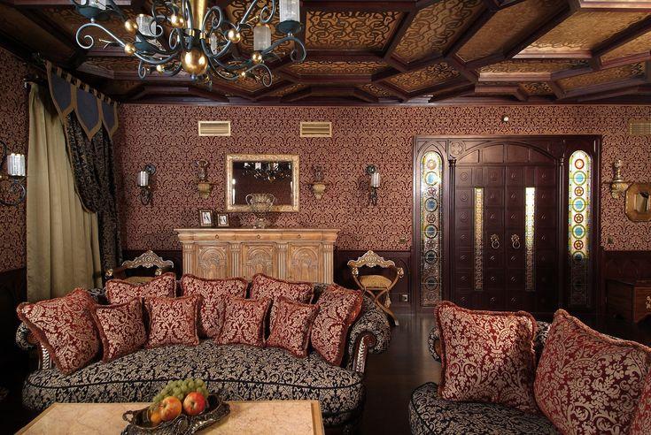 Комната для отдыха в стиле готика
