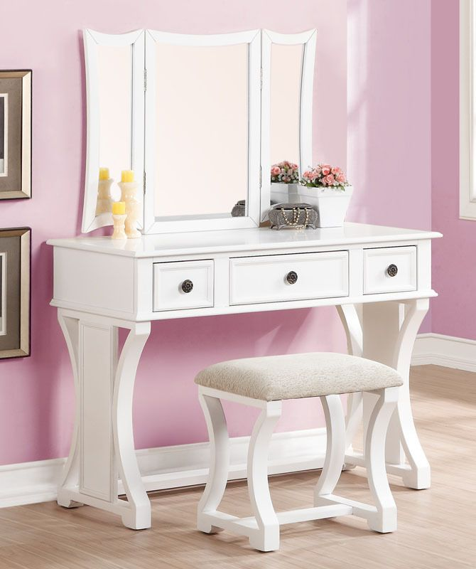 white desk vanity with mirror. Poundex F4119 Dulce White Vanity Desk with Mirror Best 25  vanity desk ideas on Pinterest Makeup