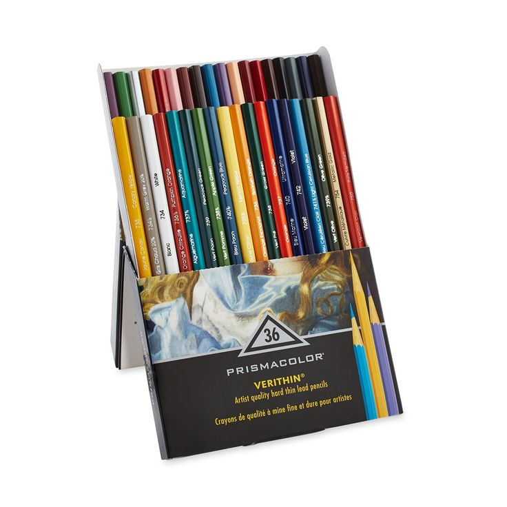 Amazon.com : Prismacolor Verithin Colored Pencils, Set of 36 Assorted Colors (2428) : Wood Colored Pencils : Office Products