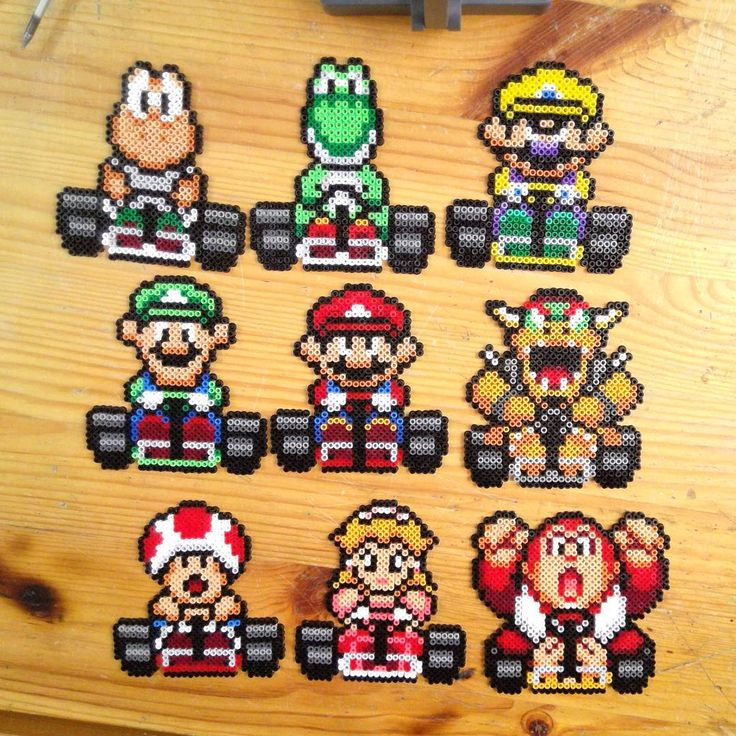 Super Mario Kart hama beads by yurekart