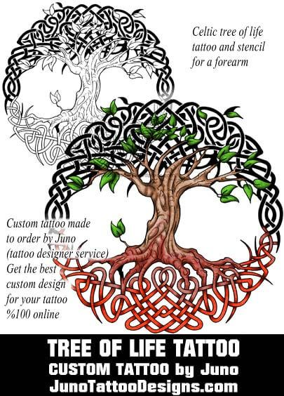 celtic tree of life tattoo, juno tattoo designs                                                                                                                                                      More
