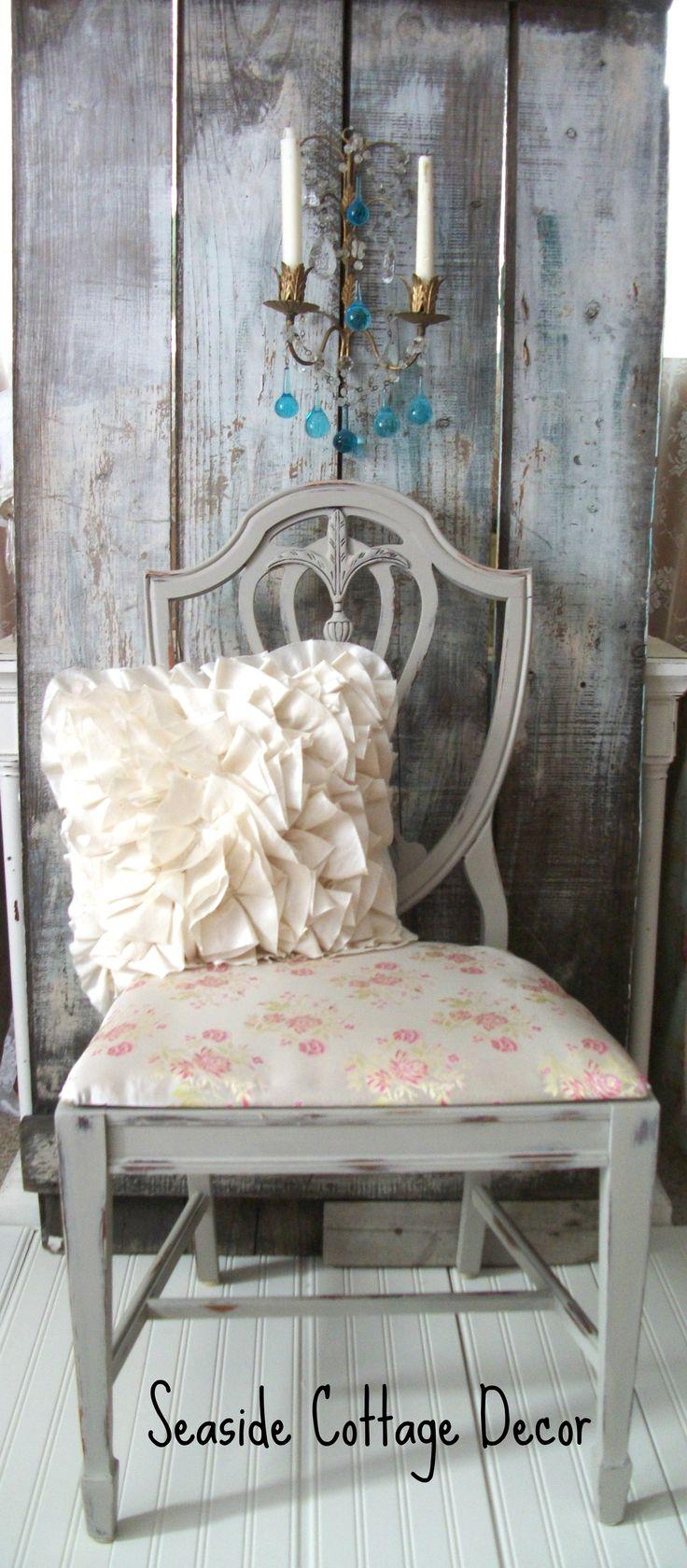 930 S Shield Back Hepplewhite Style Chair Shabby Chic