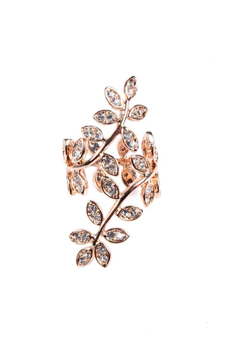 Rose Gold Gold Vine Ring #jewelry #women #ladies #fashion #beauty