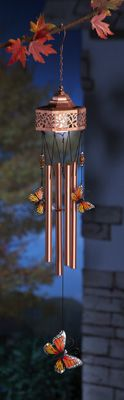 Solar Metal Butterfly Wind Chime