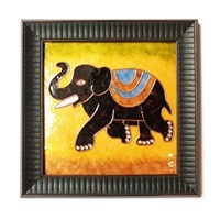 Decorative Wall Pieces,Made In India,Copper Enamel Elephant Wall Piece